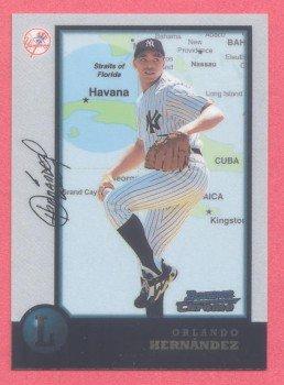 1998 Bowman Chrome International # 221 Orlando Hernandez Yankees