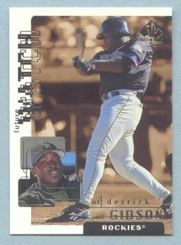 1999 SP Authentic Future Watch # 97 Derrick Gibson #d 1704 of 2700 Rockies