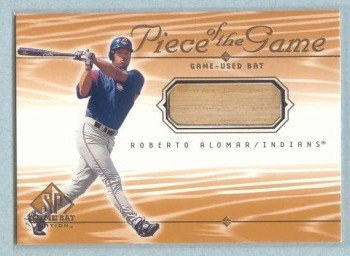 2001 SP Game Bat Edition Piece of the Game # RA Roberto Alomar GU Bat SP