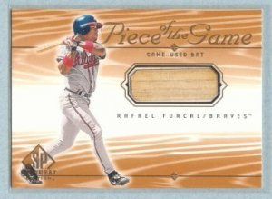 2001 SP Game Bat Edition Piece of the Game # RF Rafael Furcal GU Bat SP