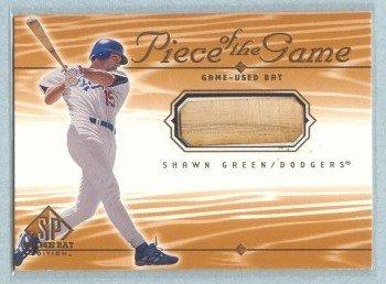 2001 SP Game Bat Edition Piece of the Game # SG Shawn Green GU Bat SP