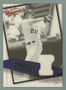 2002 Donruss Originals Champions Materials # C-12 Troy Glaus #d 005 of 100 GU Jersey
