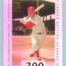 2002 Topps Tribute # 21 Richie Asburn HOF .300 Career Batting Average in 1962