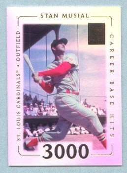 2002 Topps Tribute # 27 Stan Musial HOF 3000 Career Base Hits on 5-13-58