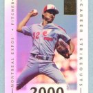 2002 Topps Tribute # 69 Dennis Martinez 2000 Career Strikeouts in 1995