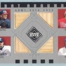 2002 UD Diamond Connection Bat Around Quads # BA-SAKS Sheffield Abreu Klesko Sosa GU Bat
