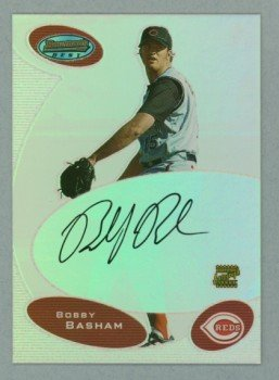2003 Bowman's Best First Year Autograph # BB-BWB Bobby Basham Auto RC Rookie