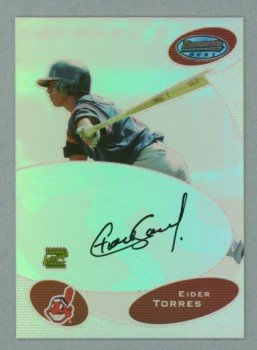 2003 Bowman's Best First Year Autograph # BB-ET Eider Torres Auto RC Rookie