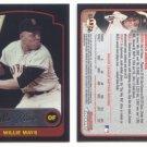 2003 Bowman Chrome # 351 WILLIE MAYS Giants HOF
