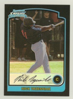2003 Bowman Chrome Refractors # 316 NICK TRZESNIAK RC Rangers Rookie