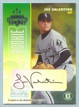2003 Champions Autographs # 290 Joe Valentine #d 012 of 475 A's Auto