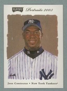 2003 Playoff Portraits # 86 JOSE CONTRERAS RC Yankees Rookie