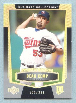 2003 UD Ultimate Collection Rookie # 127 Beau Kemp RC #d 255 of 399 Rookie
