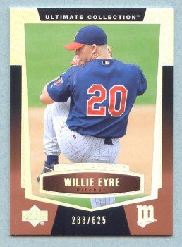 2003 UD Ultimate Collection Rookie # 86 Willie Eyre RC #d 288 of 625 Rookie