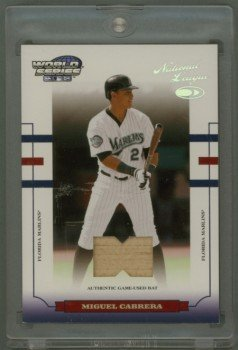 2004 Donruss World Series Material Bat # WS-76 Miguel Cabrera GU Bat #d 074 of 100