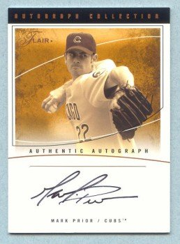 2004 Flair Autograph # AC-MP MARK PRIOR #d 45 of 60 Cubs Auto