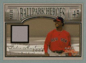2004 Fleer Sweet Sigs Ballpark Heroes Jersey Silver # BH-PM Pedro Martinez GU Jersey #d 239 of 239