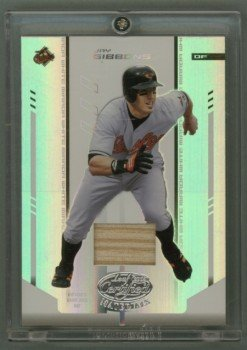 2004 Leaf Certified Materials Mirror Bat White # 89 Jay Gibbons GU Bat #d 087 of 100 Orioles