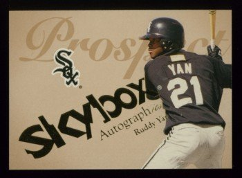 2004 Skybox Autographics Prospect # 100 Ruddy Yan RC #d 1413 of 1500 White Sox Rookie