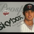 2004 Skybox Autographics Insignia Prospect # 86 Jason Bartlett #d 025 of 150 Twins