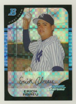 2005 Bowman Chrome X-Fractors # 193 ERICK ABREU RC #d 133 of 225 Yankees Rookie