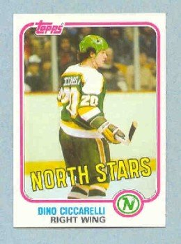 1981-82 Topps # W105 -- Dino Ciccarelli RC