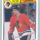 1983-84 OPC # 105 -- Steve Larmer RC UER