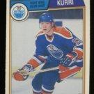 1983-84 OPC # 34 -- Jari Kurri, Oilers