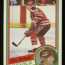 1984-85 Topps # 90 -- Pat Verbeek RC, Rookie, Devils