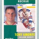 1991-92 Pinnacle French # 301 -- Tony Amonte Rookie Card RC