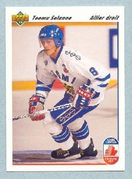 1991-92 UD Canada Club French # 21 -- Teemu Selanne Rookie Card RC