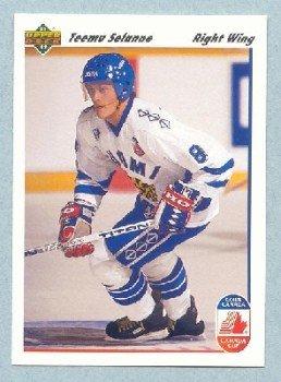 1991-92 UD Canada Club # 21 -- Teemu Selanne Rookie Card RC