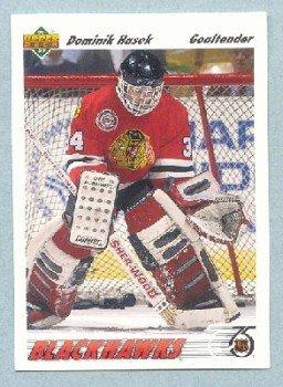 1991-92 UD # 335 -- Dominik Hasek Rookie Card RC