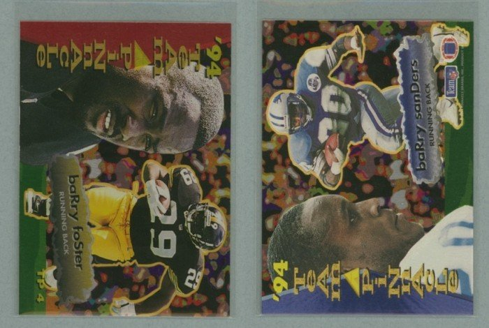 1994 Pinnacle Team Pinnacle # TP4 BARRY SANDERS and BARRY FOSTER -- MINT