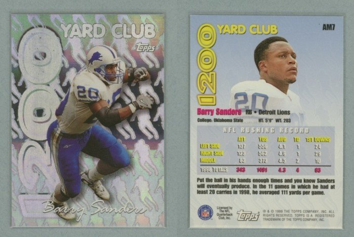 1999 Topps All Matrix # AM7 BARRY SANDERS -- MINT