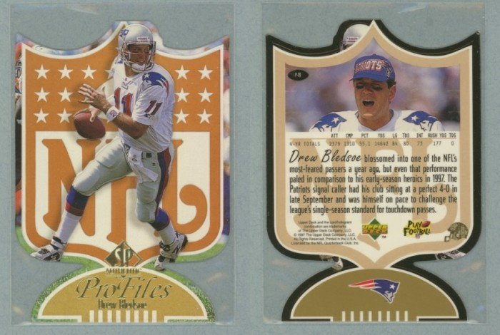 1997 SP Authentic ProFiles Die Cuts # P-19 DREW BLEDSOE