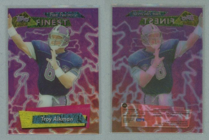 1995 Finest Fan Favorites # FF5 TROY AIKMAN -- MINT