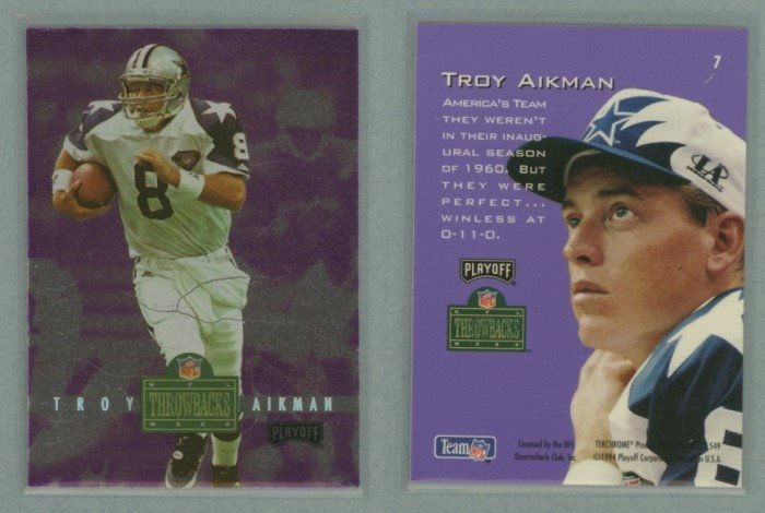 1994 Playoff Contenders Throwbacks # 7 TROY AIKMAN -- MINT