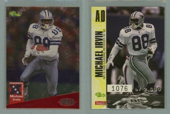 1994 Images All-Pro # A10 MICHAEL IRVIN #d 1076 of 2600 -- MINT