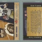 2002 Fleer Tradition Classic Combinations Hobby # 14 KURT WARNER and MARSHALL FAULK #d 0463 of 1000