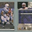 1998 SP Authentic Die Cuts # 75 MARVIN HARRISON #d 486 of 500 -- MINT
