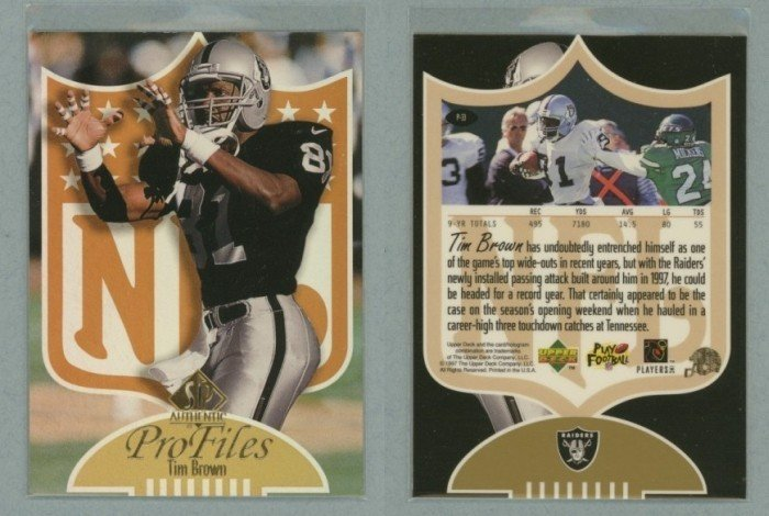 1997 SP Authentic ProFiles # P33 TIM BROWN -- MINT
