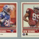1999 Upper Deck Retro Old School - New School Level 2 # ON16 TERRY GLENN & DAVID BOSTON #d 39 of 50