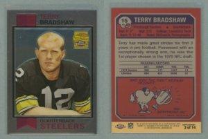 2002 Topps Chrome Terry Bradshaw Reprints # 3 TERRY BRADSHAW -- MINT