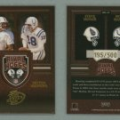 2003 Playoff Hogg Heaven Rival Hoggs # RH10 STEVE McNAIR and PEYTON MANNING #d 195 of 500