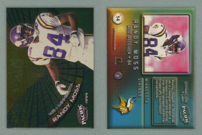 1999 Pacific Dynagon Turf # 14 RANDY MOSS -- MINT