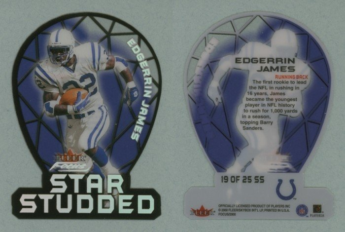 2000 Fleer Focus Star Studded # 19 EDGERRIN JAMES -- MINT