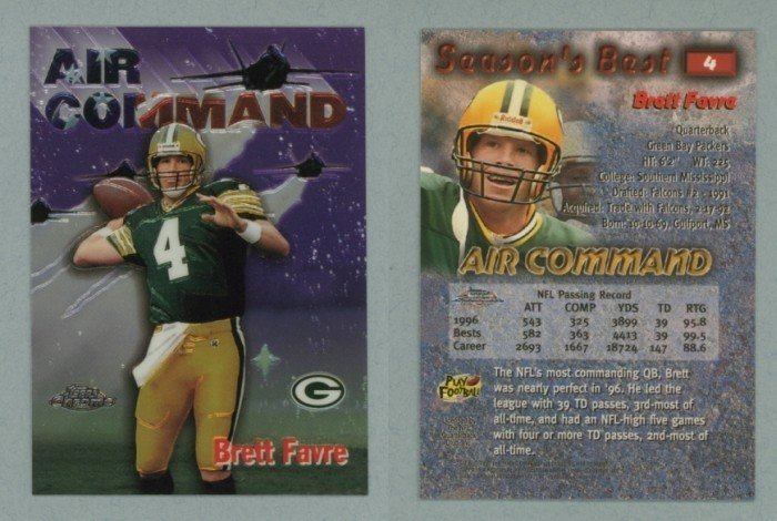 1997 Topps Chrome Season's Best # 4 BRETT FAVRE -- MINT