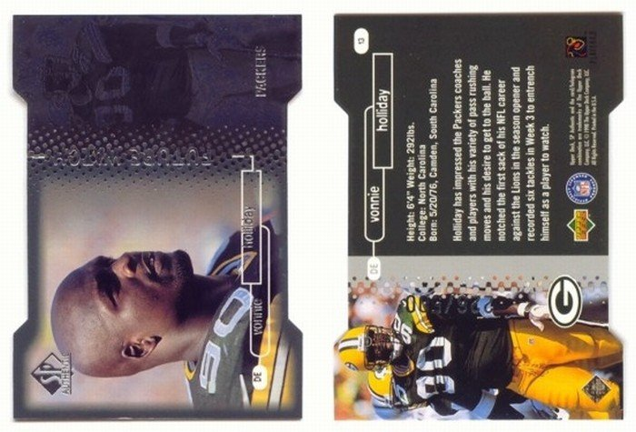 1998 SP Authentic Future Watch # 13 VONNIE HOLLIDAY Die Cut RC #d 226 of 500 -- MINT