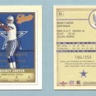 2002 Fleer Authentix Second Row # 46 QUINCY CARTER #d 106 of 250 -- MINT